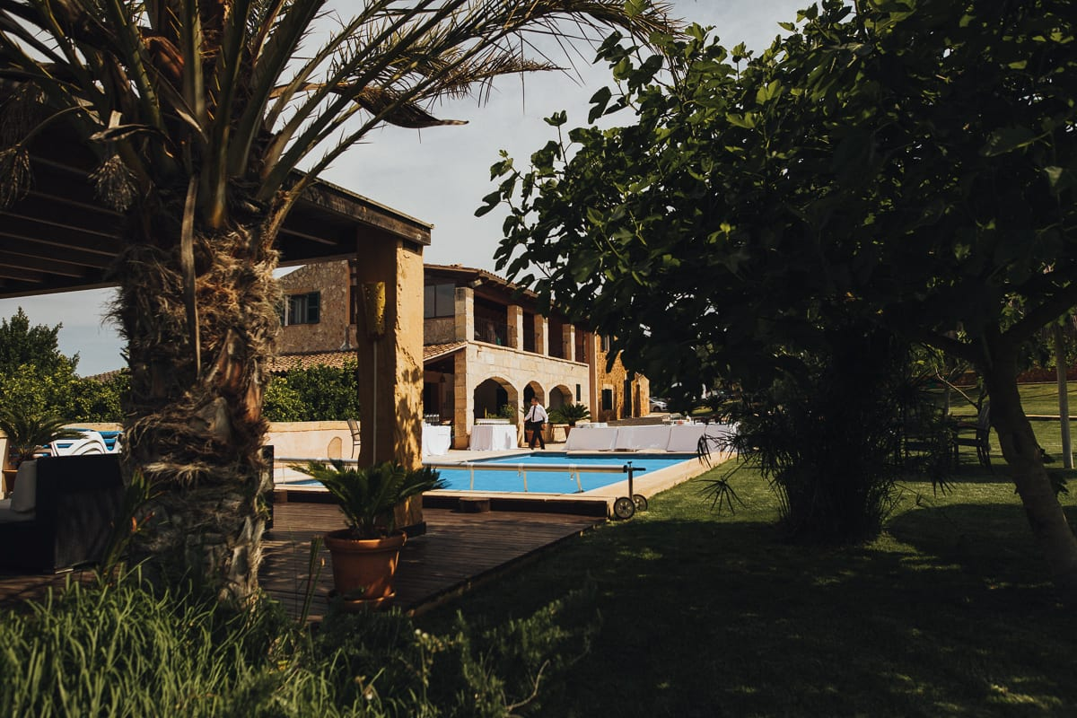 View of the Finca Can Toni which the Sunday wedding brunch takes place.