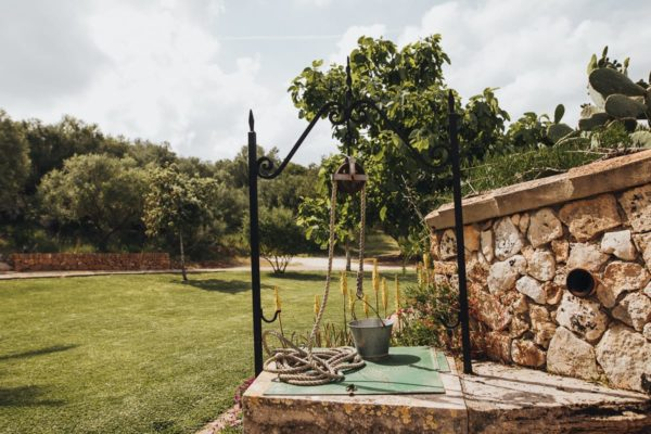 A rustic font on the Finca Can Toni at Son Servera in Majorca.