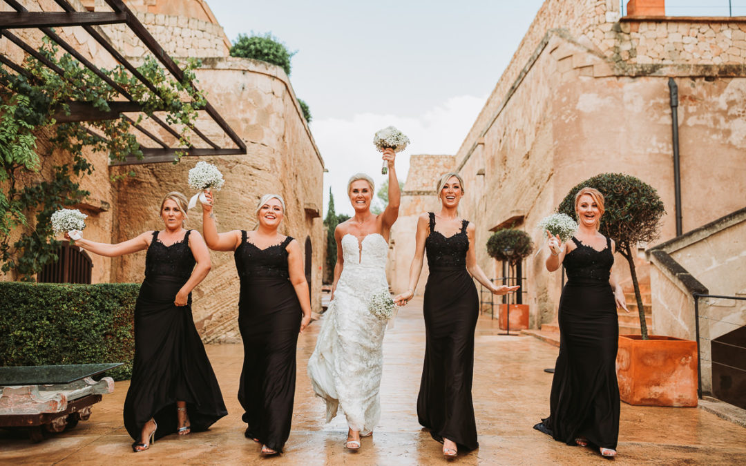 """An amazing """"sunny"""" wedding day with rain showers, at the stunning Hotel Cap Rocat"""