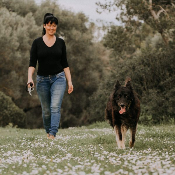 Diana Hirsch privat with her dog Chester.